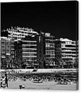 Salou Waterfront Properties On The Costa Dorada Catalonia Spain Canvas Print