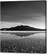 Salt Cloud Reflection Black And White Canvas Print