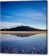Salt Cloud Reflection Framed Canvas Print