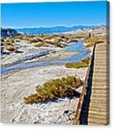 Salt Creek Trail Boardwalk In Death Valley National Park-california  Canvas Print