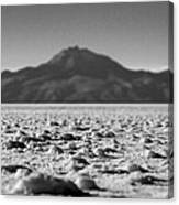 Salt Flat Surface Black And White Canvas Print