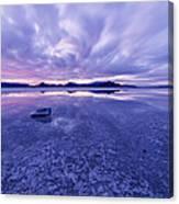 Salt Flats After Dark Canvas Print