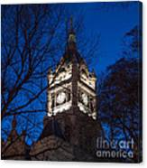 Salt Lake City And County Building At Night Canvas Print