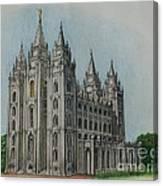 Salt Lake City Temple I Canvas Print