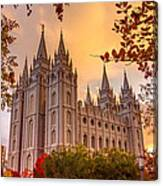Salt Lake City Temple Canvas Print
