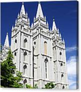Salt Lake Mormon Temple Canvas Print