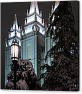 Salt Lake Temple In The Snow Canvas Print