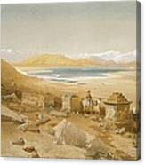 Salt Lake - Thibet, From India Ancient Canvas Print