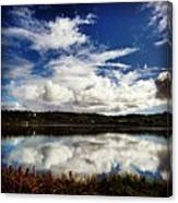 Salt Pond Mirror  Canvas Print