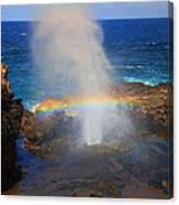 Salt Spray Rainbow Canvas Print