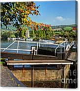 Saltford Locks  Canvas Print