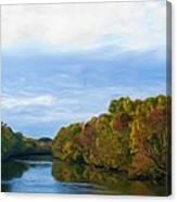 Saluda River In The Fall Canvas Print