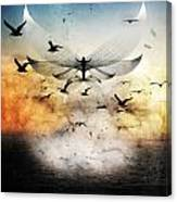 Salute The Morning Canvas Print