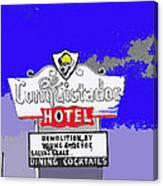 Salvage Sale Sign El Conquistador Hotel Tucson Arizona 1968-2011 Canvas Print