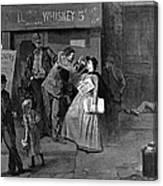 Salvation Army In Slums Canvas Print