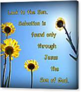 Salvation In The Son Canvas Print