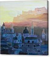 Salzburg At Dusk Canvas Print