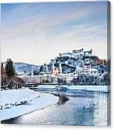 Salzburg Winter Fairy Tale Canvas Print