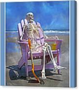 Sam Enjoys The Beach -- Again Canvas Print