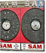 Sam The Record Man Canvas Print