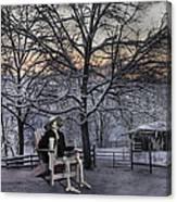 Sam Visits Winter Wonderland Canvas Print