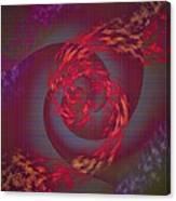 Samba Dancer Abstract Digital Painting Canvas Print
