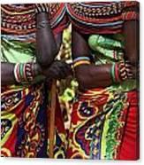 Samburu Women Dancing Kenya Canvas Print