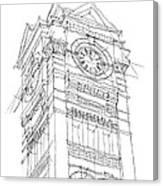 Samford Hall Sketch Canvas Print