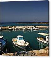 Sami Harbour Kefalonia Canvas Print
