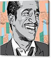 Sammy Davis Jr Pop Art Canvas Print