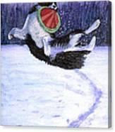 Sammy's Frisbee Jump Canvas Print