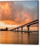 Samoa Bridge At Sunset Canvas Print