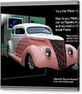 Sample Car Artwork Readme Canvas Print