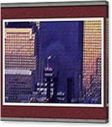 Sample Example Sunset On Ground Zero Canvas Print