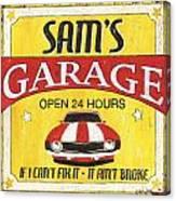 Sam's Garage Canvas Print