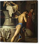Samson And The Philistines Canvas Print