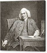 Samuel Johnson, English Author Canvas Print