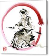 Samurai Enso Bushido Way. Canvas Print