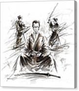 Samurai Meditation. Canvas Print