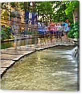 San Antonio Riverwalk Slomo Canvas Print