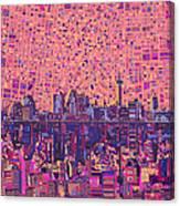 San Antonio Skyline Abstract 5 Canvas Print