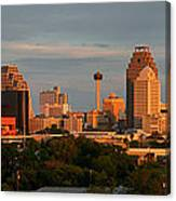 San Antonio - Skyline At Sunset Canvas Print