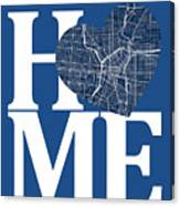 San Antonio Street Map Home Heart - San Antonio Texas Road Map I Canvas Print