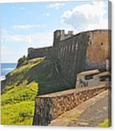San Christobal Castle Old San Juan Canvas Print