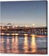 San Clemente Pier At Night Canvas Print
