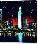 San Diego By Black Light Canvas Print