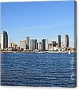 San Diego Ca Harbor Skyline Canvas Print