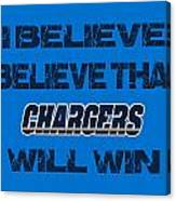San Diego Chargers I Believe Canvas Print