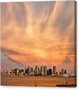 San Diego Cloud Burst Canvas Print