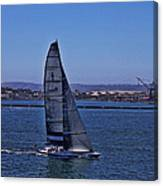 San Diego Harbor Sailing Canvas Print